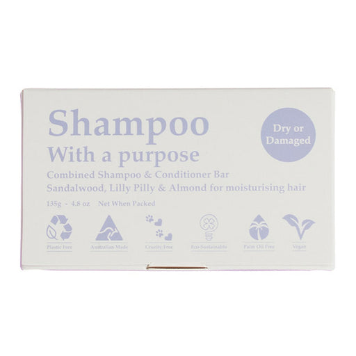 SHAMPOO WITH A PURPOSE Dry or Damaged Shampoo & Conditioner Bar 135g