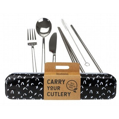 RETROKITCHEN Carry Your Cutlery - Criss Cross Stainless Steel Cutlery Set