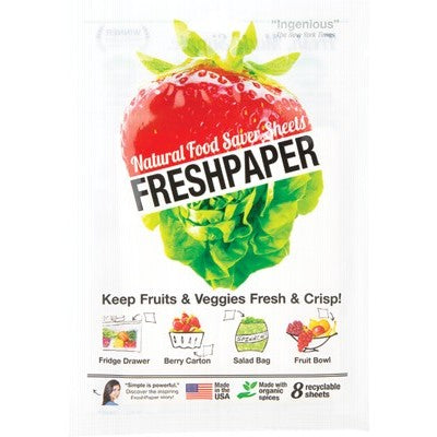 FRESHPAPER Natural Food Saver Sheets Produce 8 - Welcome Organics