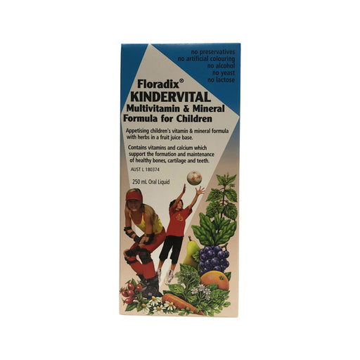 FLORADIX Kindervital Multivitamin for Children 250ml - Welcome Organics