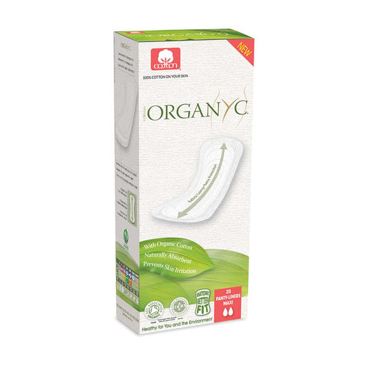 ORGANYC Panty Liners Flat- Maxi x 20 Pack