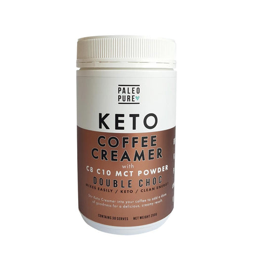 PALEO PURE Keto Coffee Creamer with C8 C10 MCT Powder 250gm - Welcome Organics