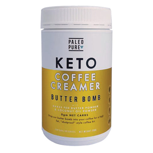 PALEO PURE Keto Coffee Creamer Butter Bomb 250gm - Welcome Organics