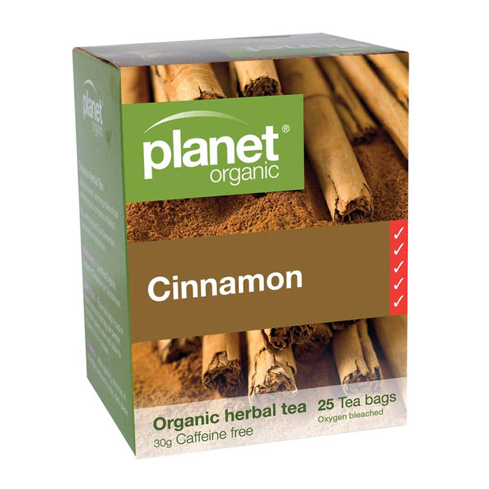 PLANET ORGANIC Cinnamon Herbal Tea x 25 Tea Bags - Welcome Organics