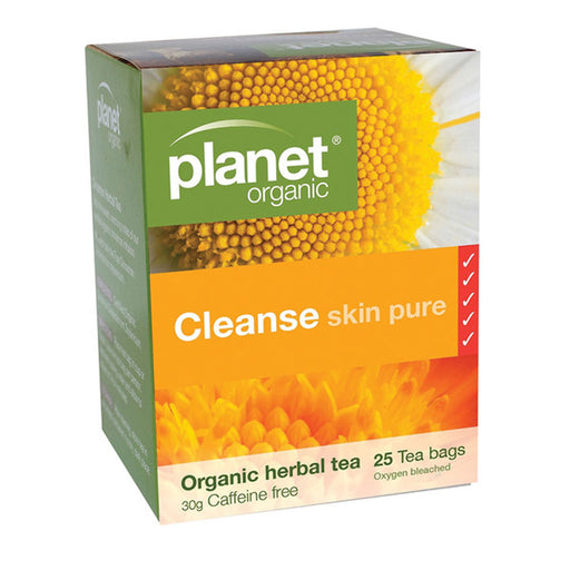 PLANET ORGANIC Cleanse Skin Pure Herbal Tea x 25 Tea Bags - Welcome Organics