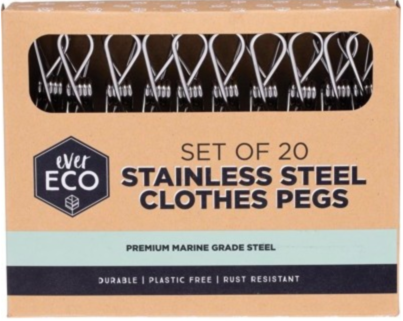 EVER ECO Stainless Steel Clothes Pegs 20
