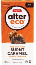 ALTER ECO Chocolate (Organic) Deep Dark Salted Burnt Caramel 80g