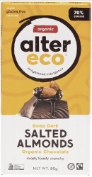 ALTER ECO Chocolate (Organic) Dark Salted Almonds 80g