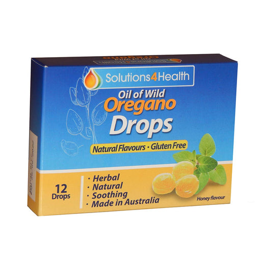 SOLUTIONS 4 HEALTH Organic Oil of Oregano Lozenge Drops 12 - Welcome Organics