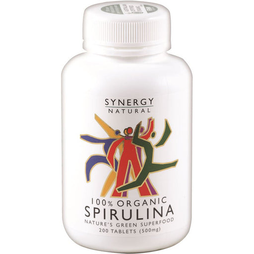 SYNERGY NATURAL Organic Spirulina 500mg 200t - Welcome Organics