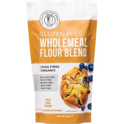 THE GLUTEN FREE FOOD CO.  Wholemeal Flour Blend Mix 400g