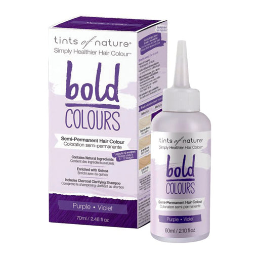TINTS OF NATURE Bold Colours Semi-Permanent Hair Colour Purple 70ml