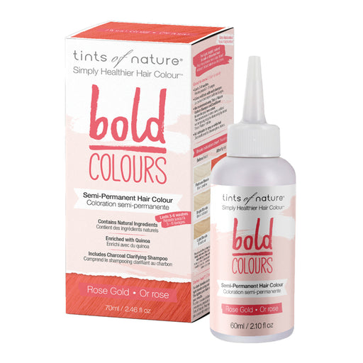 TINTS OF NATURE Bold Colours Semi-Permanent Hair Colour Rose Gold 70ml