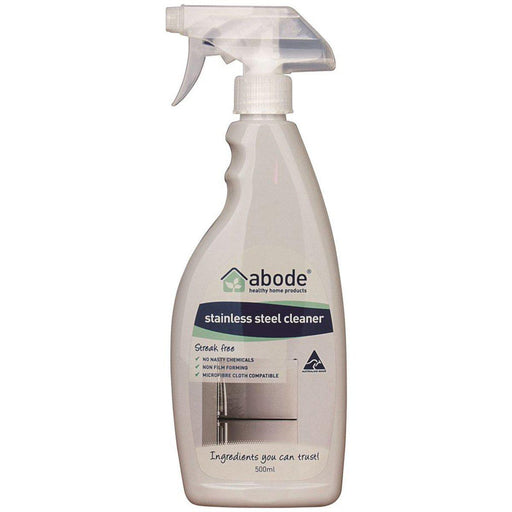ABODE Stainless Steel Cleaner Spray 500ml - Welcome Organics