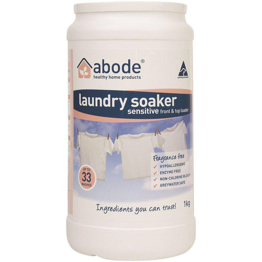 ABODE Laundry Soaker (Front & Top Loader) Zero 1kg - Welcome Organics