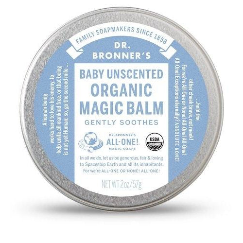 Dr. Bronner's Organic Magic balm Baby Unscented 57g - Welcome Organics