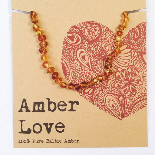 AMBER LOVE Pure Baltic Amber Child Necklace - Welcome Organics