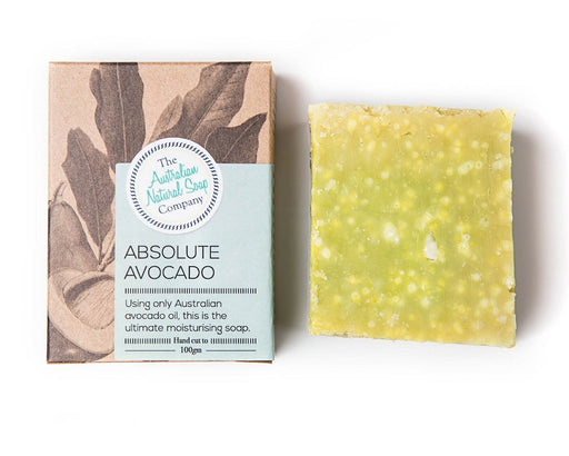 THE AUST. NATURAL SOAP CO Face Soap Bar Absolute Avocado 100g- welcome organics