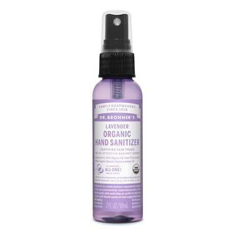 DR. BRONNER'S Organic Hand Sanitizer Lavender 59ml - Welcome Organics