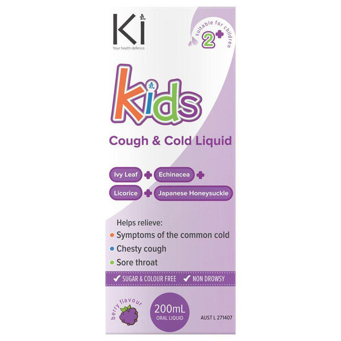 MARTIN & PLEASANCE Ki Kids Cough & Cold 200ml - Welcome Organics