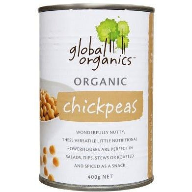 GLOBAL ORGANICS Organic Chick Peas (BPA free) 400g - Welcome Organics