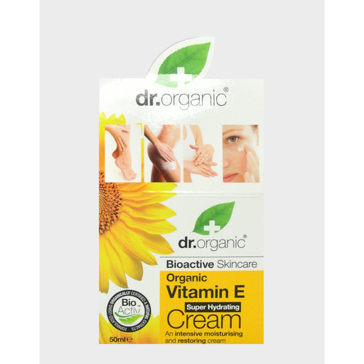DR ORGANIC Organic Vitamin E Hydrating Cream 50ml-DR ORGANIC-Welcome-organics