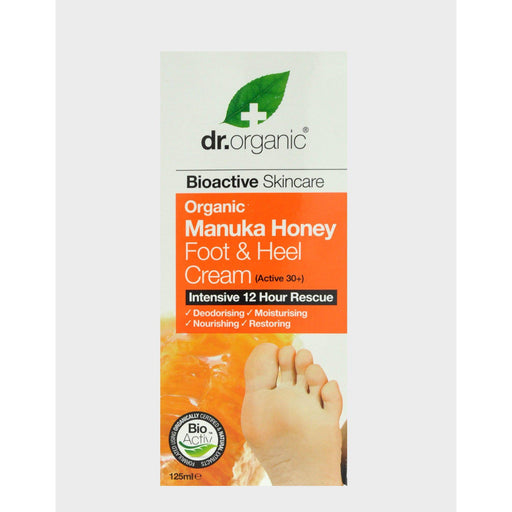 DR ORGANIC Foot & Heel Cream Organic Manuka Honey 125ml - Welcome Organics