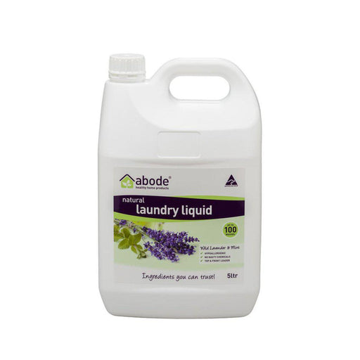 ABODE Laundry Liquid (Front & Top Loader) Wild Lavender & Mint 5L - Welcome Organics