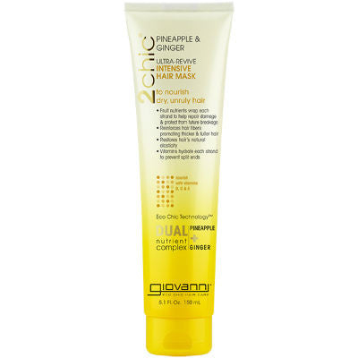 GIOVANNI Hair Mask - 2chic Ultra-Revive (Dry, Unruly Hair) 150ml - Welcome Organics