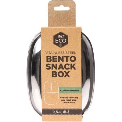 EVER ECO 3 Compartments Bento Box 580ml - Welcome Organics