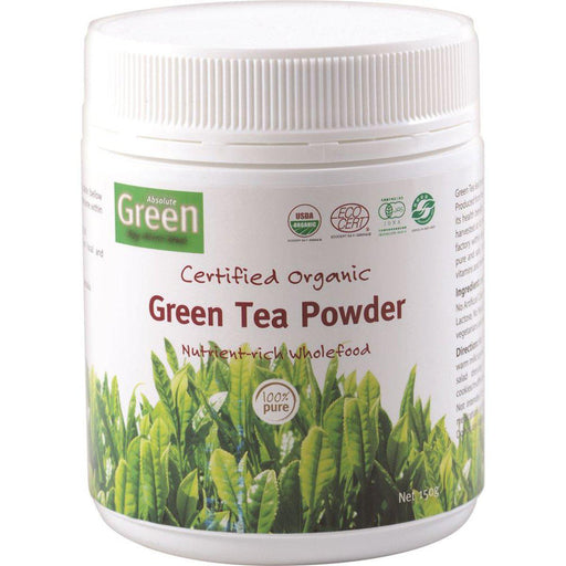 ABSOLUTE GREEN Certified Organic Green Tea Powder 150gm-ABSOLUTE GREEN-Welcome-organics