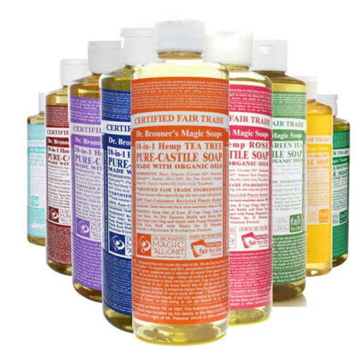 DR BRONNERS Liquid Hemp 18 in 1 Pure Castile Soap 473ml - Welcome Organics