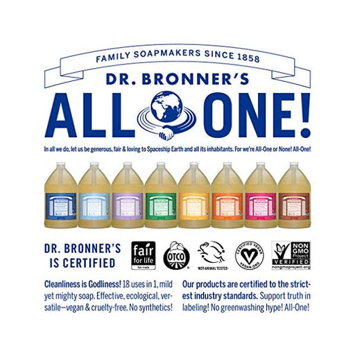 DR BRONNERS Bulk Pure Castile Soap 18 in 1 Liquid 3.78L