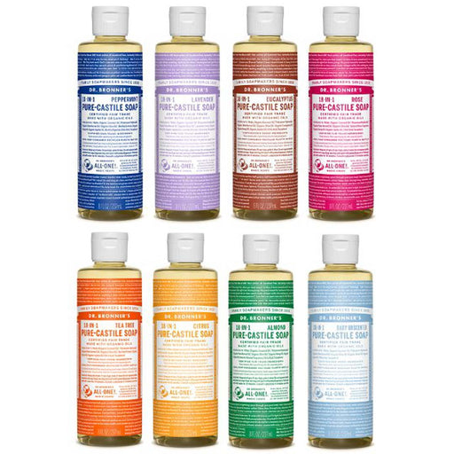 DR BRONNERS Liquid Hemp 18 in 1 Pure Castile Soap 237ml - Welcome Organics