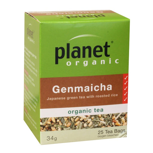 Planet Organic Genmaicha Tea x 25 Tea Bags - Welcome Organics