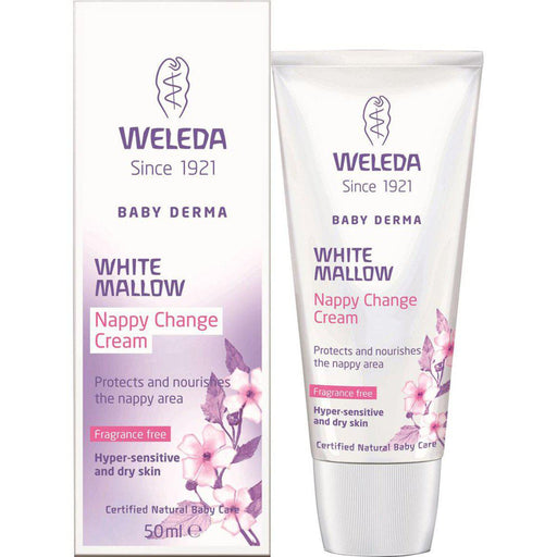 WELEDA Baby Derma White Mallow Nappy Change Cream Fragrance Free 50ml - Welcome Organics