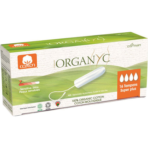 ORGANYC Tampons Super Plus x 16 Pack - Welcome Organics