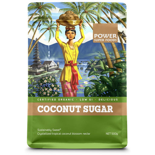 POWER SUPER FOODS Organic Coconut Sugar 500gm-POWER SUPER FOODS-Welcome-organics