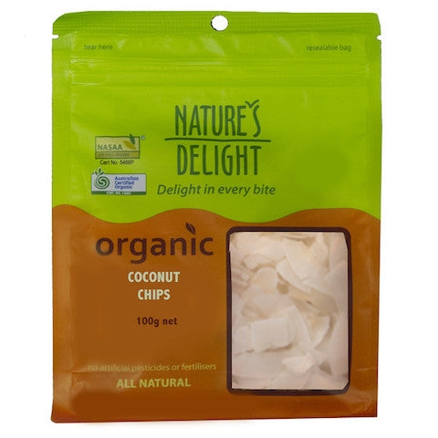 NATURES DELIGHT Organic Coconut Chips 100g - Welcome Organics