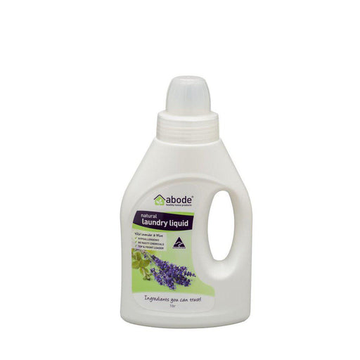 ABODE Laundry Liquid (Front & Top Loader) Wild Lavender & Mint 1L - Welcome Organics