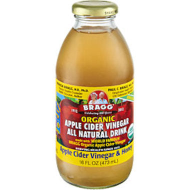 BRAGG Apple Cider Vinegar Drink ACV with Honey 473ml - Welcome Organics