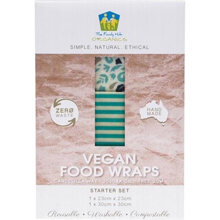 THE FAMILY HUB ORGANICS Vegan Food Wraps Starter Set