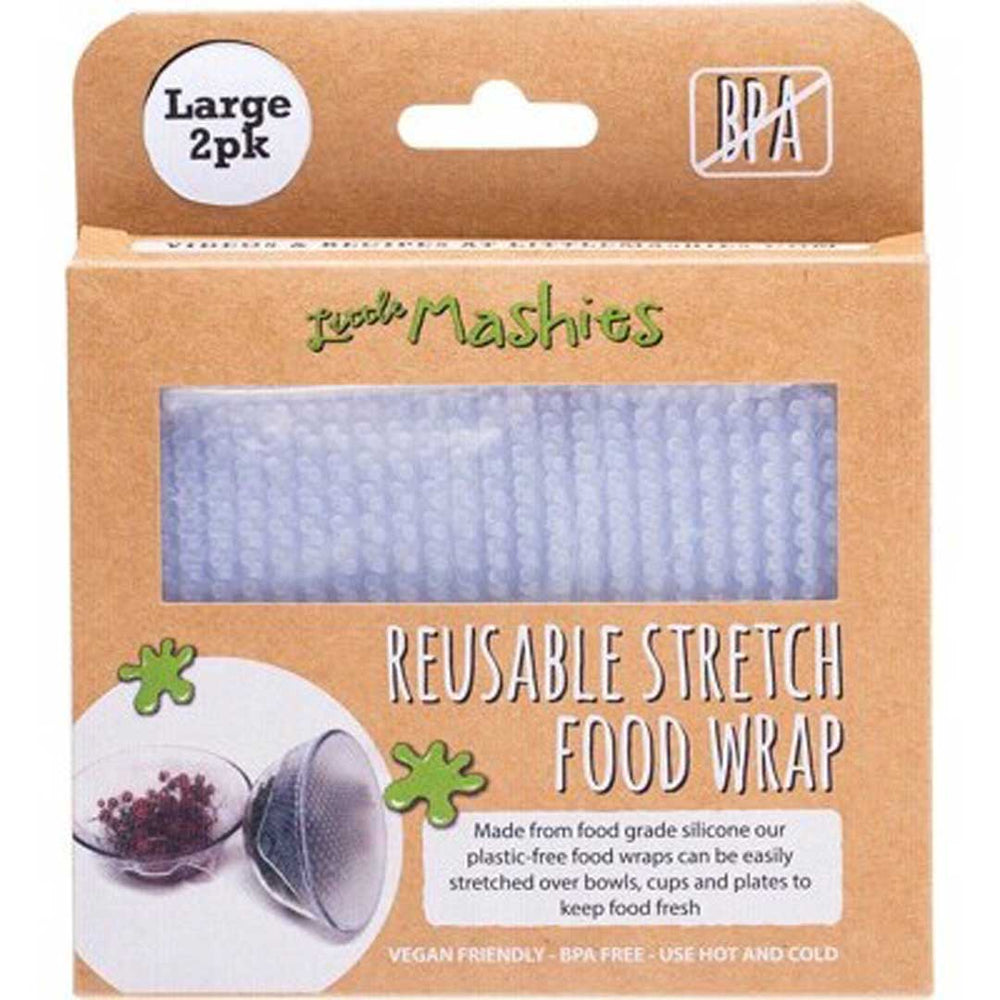 LITTLE MASHIES Reusable Stretch Food Wrap Large 2 Pack - Welcome Organics