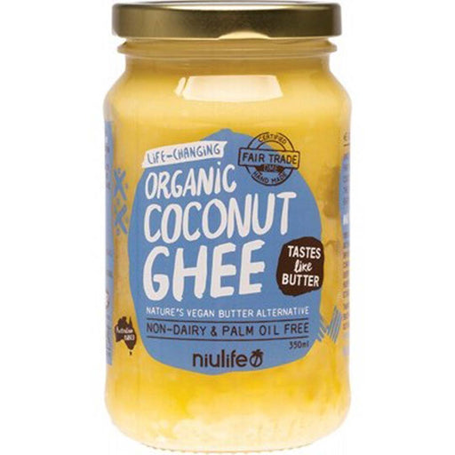 NIULIFE  Coconut Ghee Vegan Butter Alternative 350ml - Welcome Organics