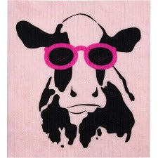 RETROKITCHEN 100% Biodegradable DishCloth Cow - Welcome Organics
