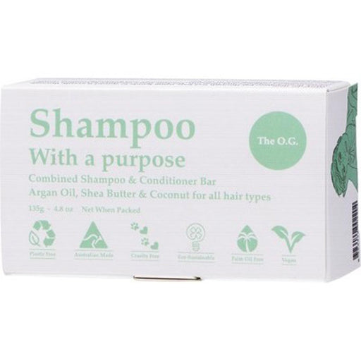 SHAMPOO WITH A PURPOSE The OG Shampoo & Conditioner Bar 135g