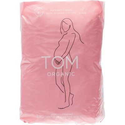 TOM ORGANIC Maternity Pads Ultra Absorbent for Post Birth 12