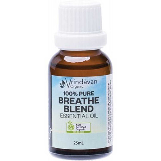 VRINDAVAN 100% Pure Breathe Blend Essential Oil 25ml - Welcome Organics