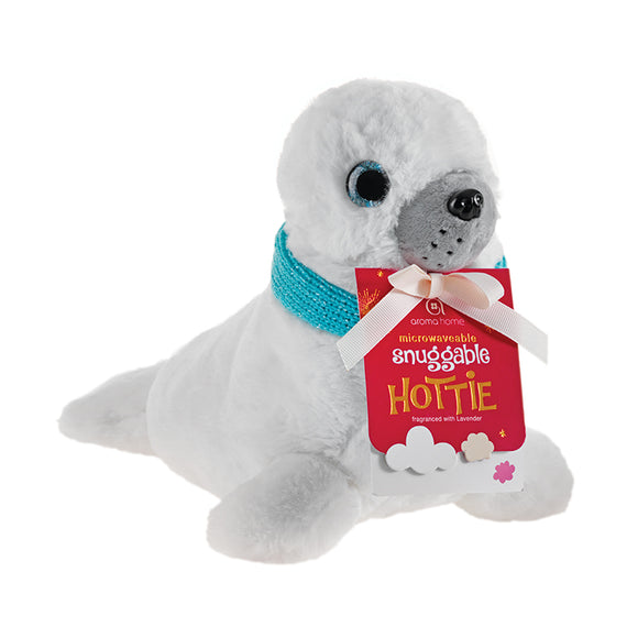 Snuggable Hottie - Baby Seal with Scarf