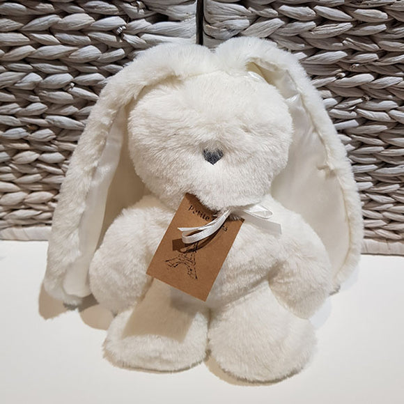 Flat Bunny Comforter - White with White Ears